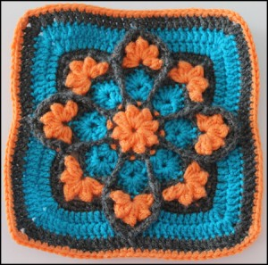 Julie Annys Stained Glass Afghan Square