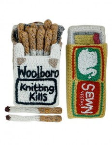 Crochet cigarettes