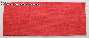 Bund - Klip 2: 16 x 40cm (inklusive 1cm søm)