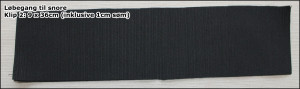 Løbegang til snore - Klip 2: 9 x 36cm (inklusive 1cm søm)