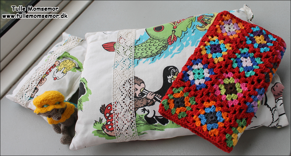 Rasmus Klump sengetøj til dukkevogn