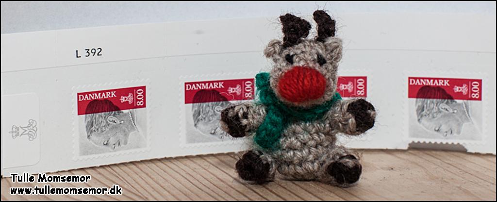 Holger rensdyr med frimærker