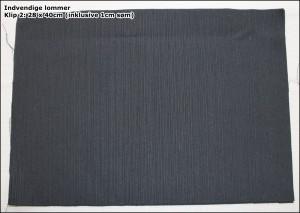 Indvendige lommer - Klip 2: 28 x 40cm (inklusive 1cm søm)