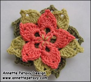 Blomster Broche af Annette Petavy Design