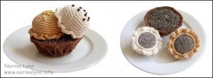 Hæklede flødekager - Coconut and Honey in a Waffle Bowl