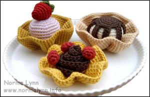 Hæklede flødekager - Dessert Bowl