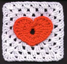 Jackie's Heart Granny Square