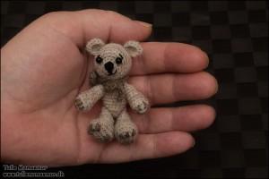 Miniature bamse til Mor - julen 2013